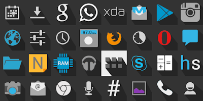 Screenshot of Holo Shadow Icon Pack