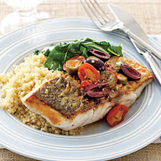 Sea Bass with Tomatoes and Olives
