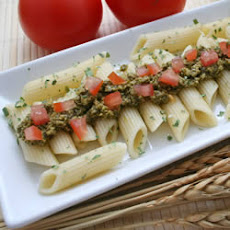 Penne with Black Olive Pesto and Sun Dried Tomatoes