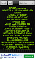 Screenshot of Test Phone Info