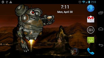 Screenshot of Robot Squad Live Wallpaper