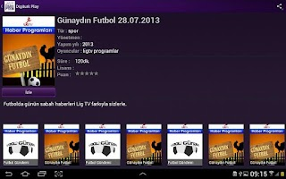 Screenshot of Digiturk Play Yurtdışı