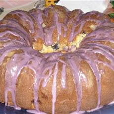 Blueberry Cream Cheese Pound Cake II