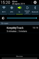 Screenshot of Keep My Track