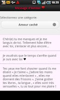 Screenshot of Phrases D' amour