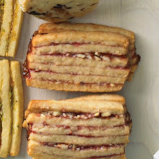 Raspberry-Almond Layered Icebox Cookies