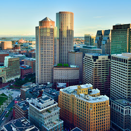 View From Above by Jim Bosch - Buildings & Architecture Office Buildings & Hotels ( skyline, boston, boston skyscrapers, aerial views, cityscape )