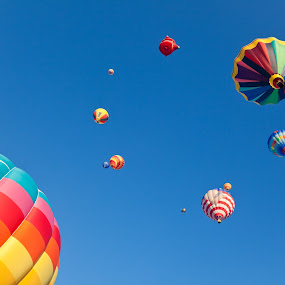 Vibrant Hot Air Balloons by Nicolas Raymond - Transportation Other ( show, round, transportation, yellow, vibrant, colour, sky, colourful, pink, hot air balloons, multicolour, orange, colors, multicoloured, stripes, balloon, balloons, stripe, somadjinn, soaring, colours, fly, aircraft, air balloons, scene, hot, air, soar, hot air balloon, colorful, vehicle, object, multicolored, flying, aviation, transport, nicolas raymond, air balloon, ballooning, purple, green, multicolor, scenic, flight, cyan, red, magenta, blue, color, background, violet, vibrance, scenery, , mood factory, happiness, January, moods, emotions, inspiration )