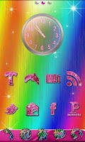 Screenshot of GO Theme Rainbow Zebra Theme