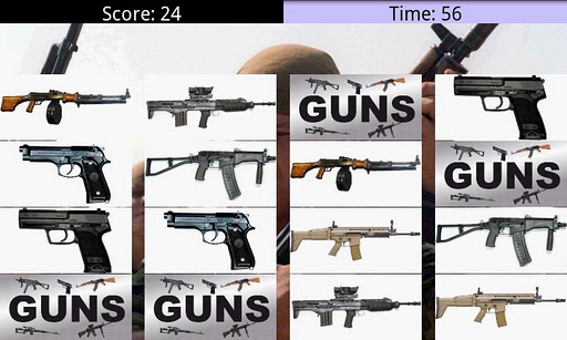 guns-memory for android screenshot