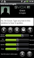 Screenshot of SVOX US English Grace Voice