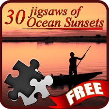 30 Jigsaws of Ocean Sunsets