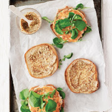 Smoky Salmon Burgers with Grainy Mustard