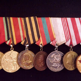 medals in the ukraine  by Sue Anderson - Artistic Objects Other Objects