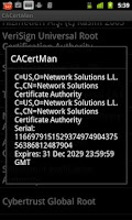 Screenshot of CACertMan