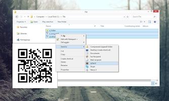 Screenshot of qrSend