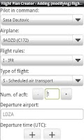 Screenshot of Flight Plan Creator