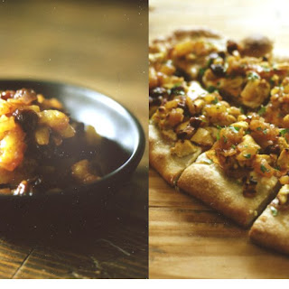 Curry Chicken Flatbread with Pineapple Chutney