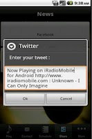 Screenshot of iRadioMobile