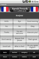 Screenshot of Speak French Free
