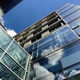Zara by Zoran Nikolic - Buildings & Architecture Office Buildings & Hotels ( reflection, sky, arhitecture, buildings, hotel )