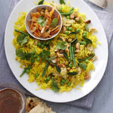 Vegetable Vegan Biriyani With Carrot Salad