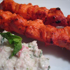 Chicken Tikka With Cucumber Raita