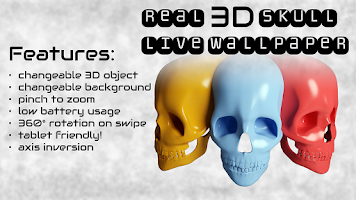 Screenshot of Skull 3D Gyro Live Wallpaper