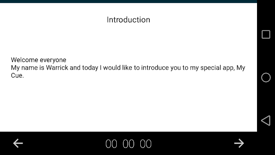 Speech note cards - screenshot
