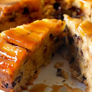 Chocolate Banana Upside-down Cake