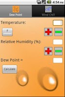 Screenshot of Weather Calculator
