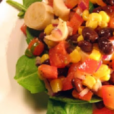 Kickin' Hot Grilled Veggies & Black Beans Salsa
