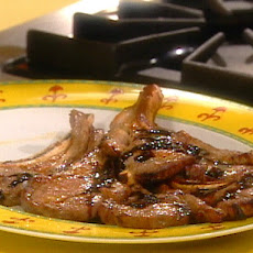 Broiled Lamb Chops with Balsamic Reduction