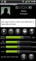 Screenshot of SVOX Norwegian Nora Voice