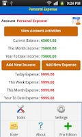 Screenshot of Expense Manager Plus
