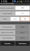 Screenshot of Recurring Deposit Calculator