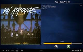 Screenshot of Radio Italia Anni 60