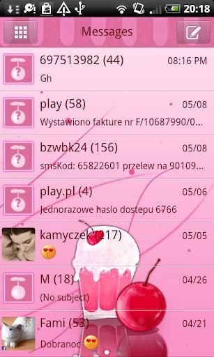 GO SMS Pro Milk Shake Theme