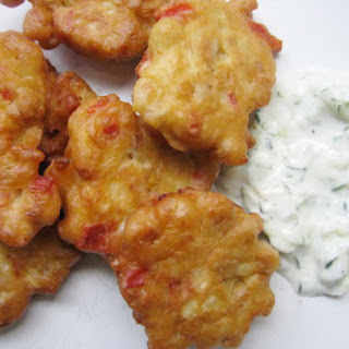 Chickpea Fritters with Yogurt Sauce