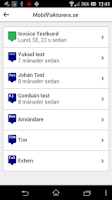 Screenshot of Faktura - MobilFakturera