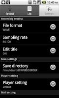 Screenshot of WAVE Recorder