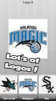Screenshot of USA Sports: logo puzzle quiz