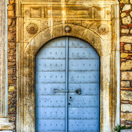 Entrance of an old mosque in Athens by Sergios Georgakopoulos - Buildings & Architecture Other Exteriors ( marble, color, mosque, greece, athens, door )