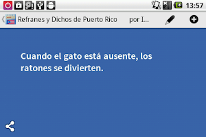 Screenshot of Refranes de Puerto Rico