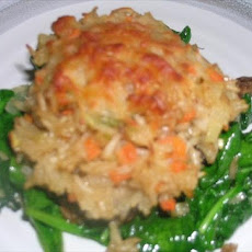Parmesan Risotto Stuffed Portabellas