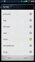 Screenshot of SendLog