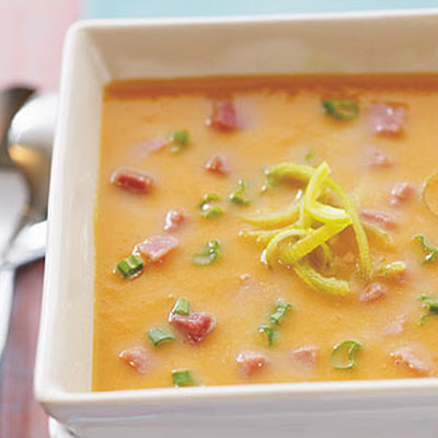 Sweet Potato, Leek, and Ham Soup