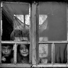 in the window...     by Boricic Goran - City,  Street & Park  Street Scenes
