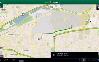 Screenshot of TetherGPS
