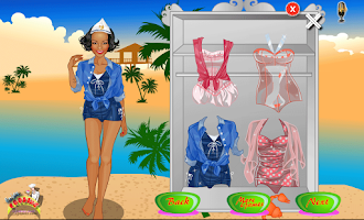 Screenshot of beach games for girls